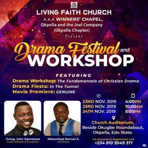 Winners Chapel Okpella To Hold Drama Festival Workshop Gospel Film News